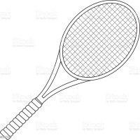 Tennis Tennisschläger Stock Vektor Art und mehr Bilder von ...