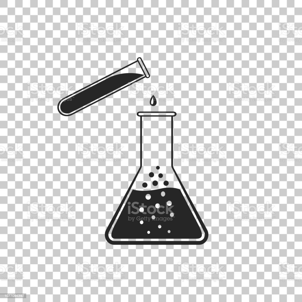 Test Tube And Flask Chemical Laboratory Test Icon Isolated