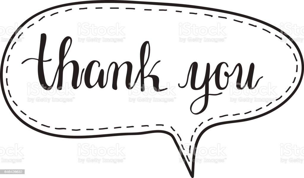 Thank You Hand Written Words Calligraphy In A Speech