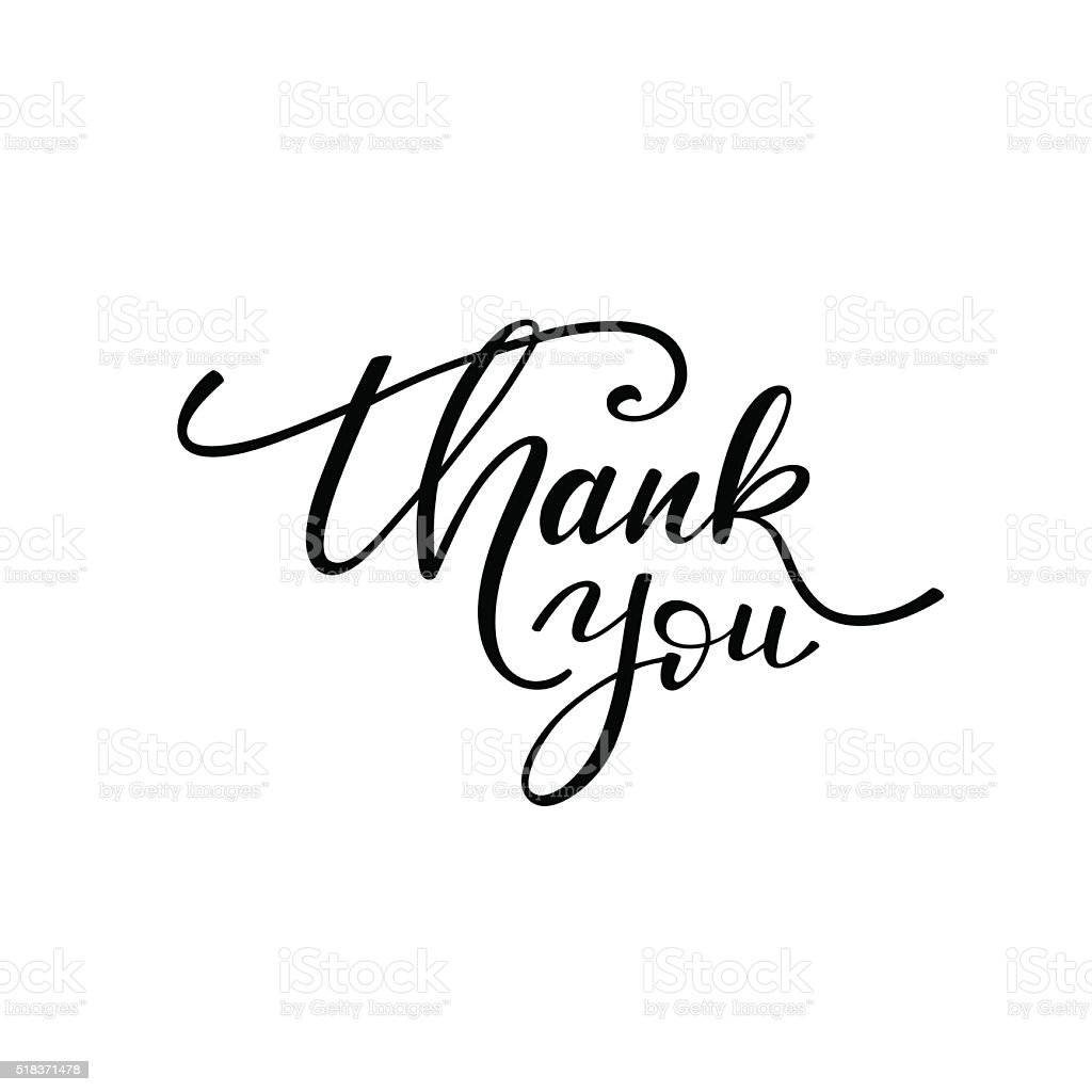 Thank You Phrase Stock Vector Art & More Images of