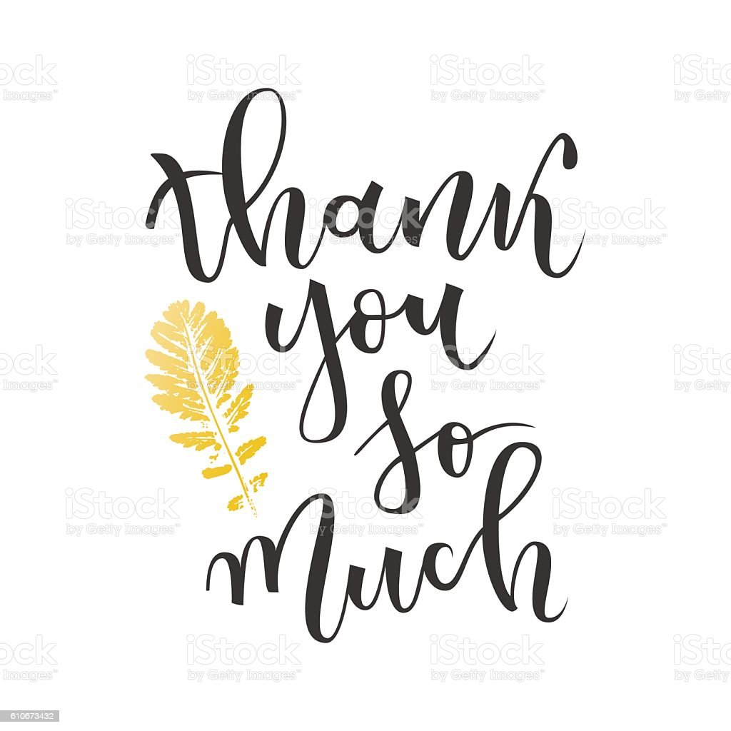Thank You So Much Greeting Stock Vector Art & More Images