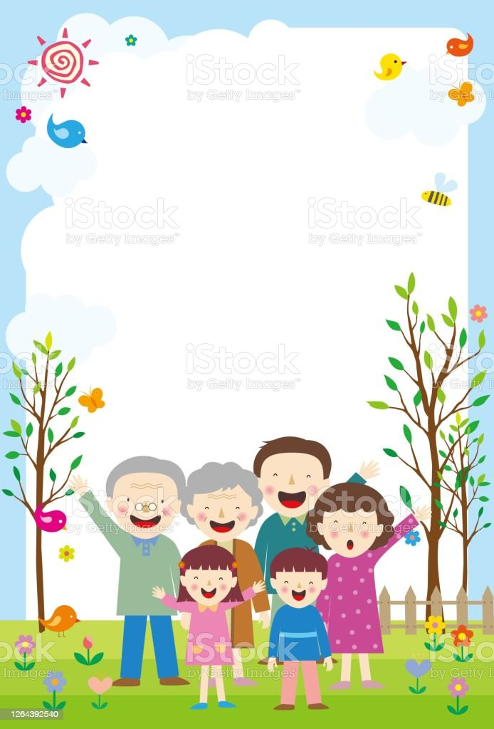 Family Background Images : family, background, images, Background, Family, Gathering, Garden, Smilea, Write, About, Stock, Illustration, Download, Image, IStock