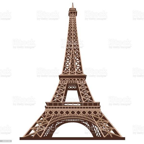 Eiffel Tower Shot White