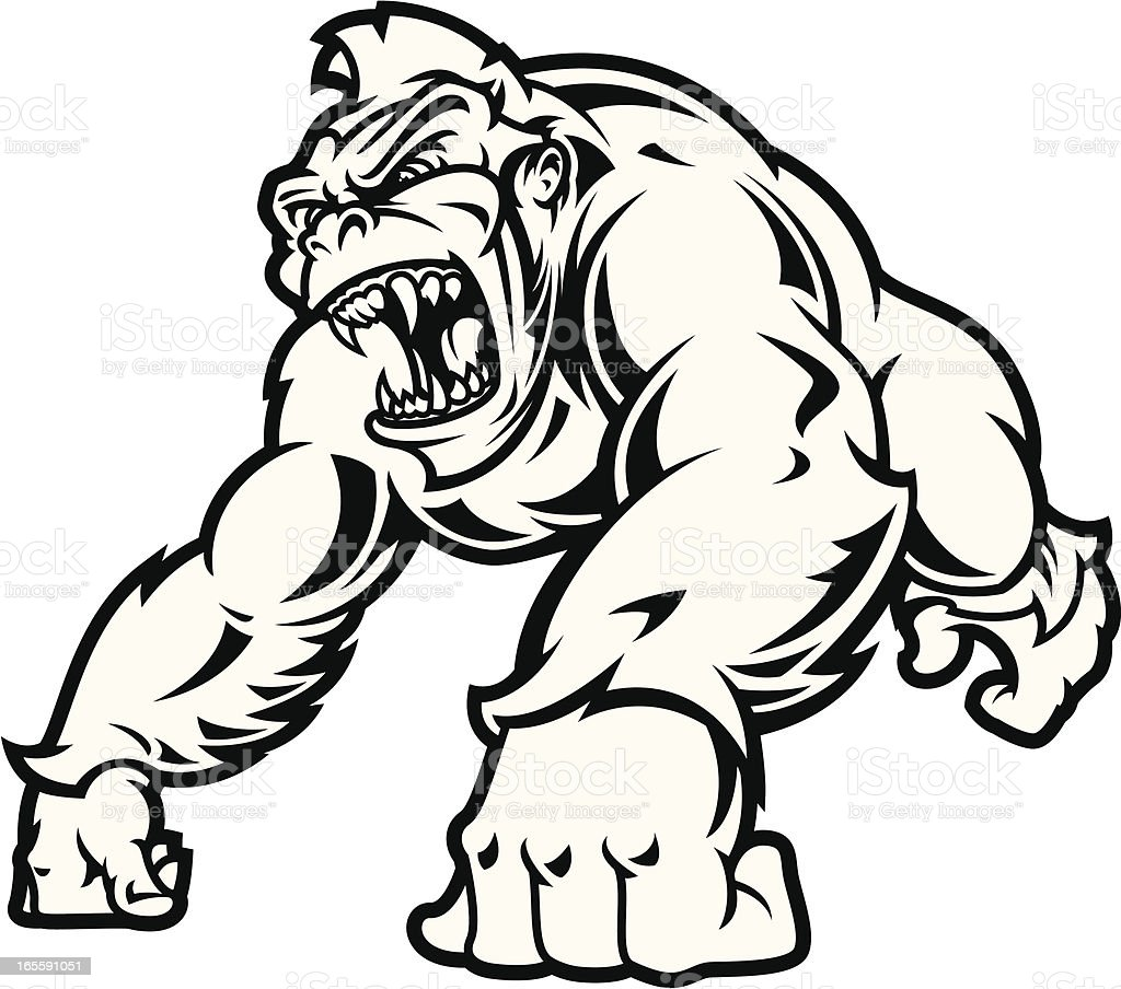 The Great Ape Bampw Stock Vector Art & More Images of