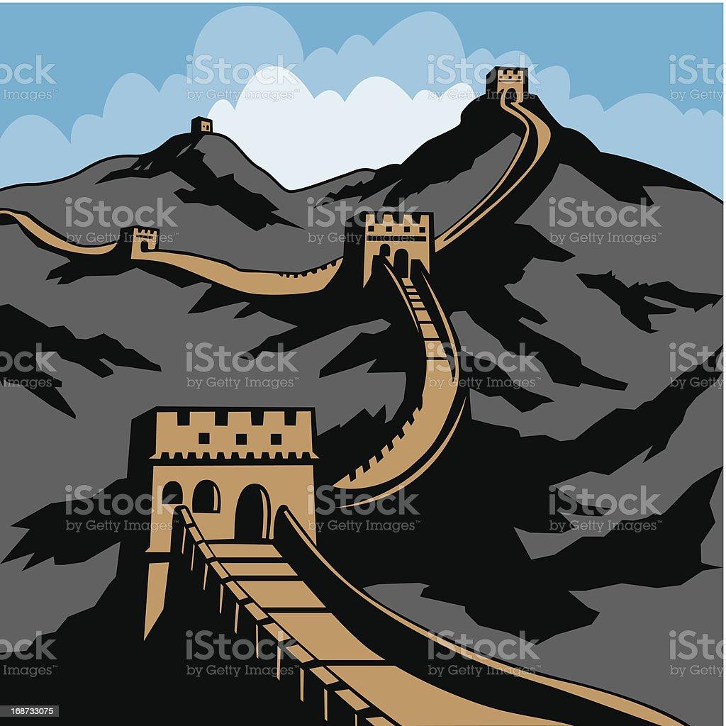 great wall of china clip art vector