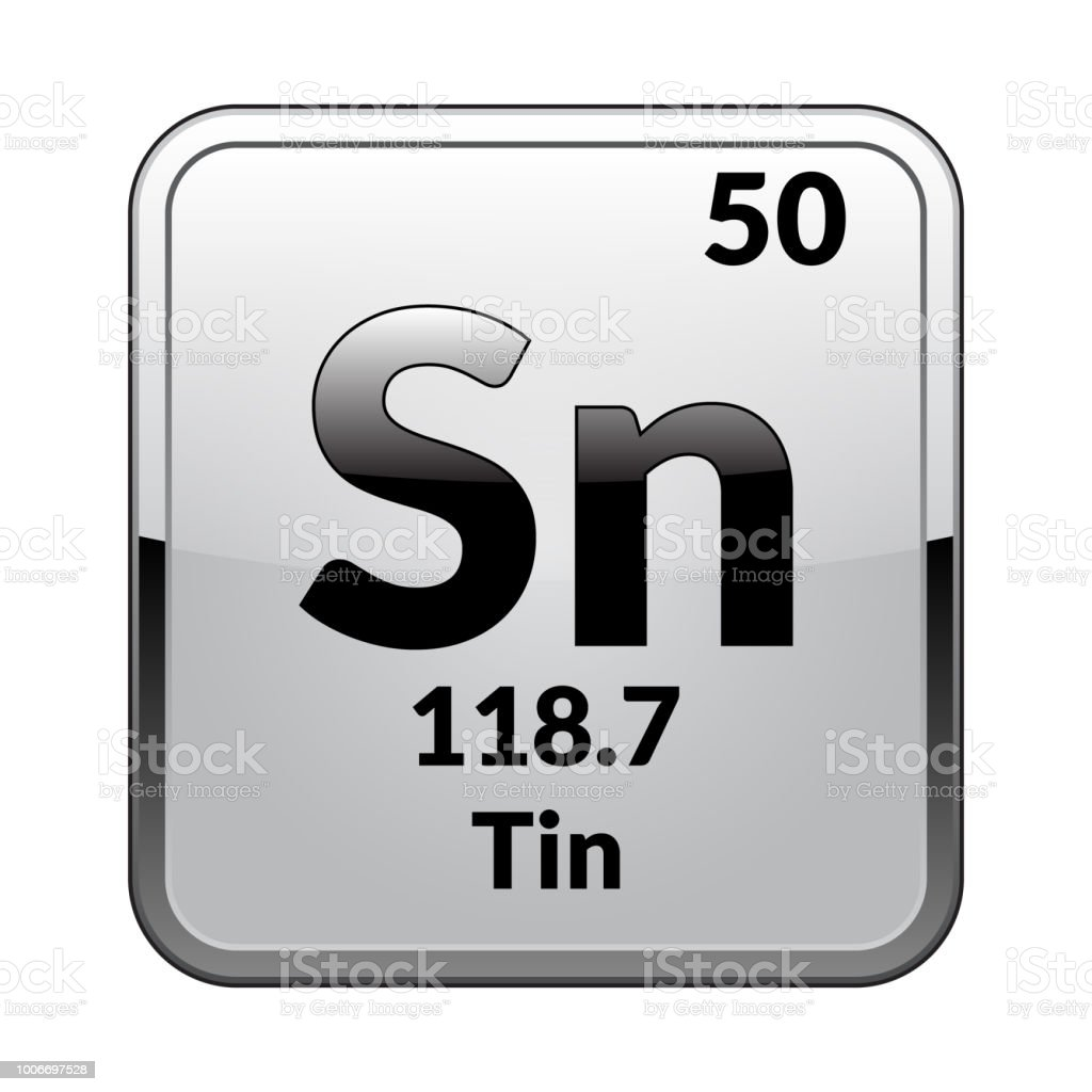 hight resolution of the periodic table element tin vector royalty free the periodic table element tinvector