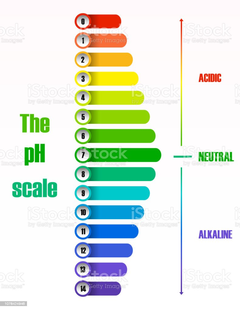 hight resolution of the ph scale diagram illustration