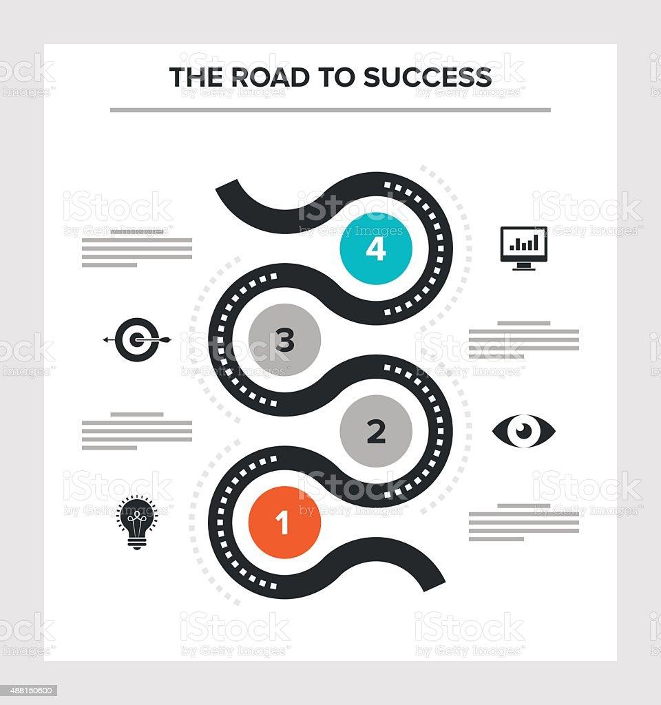 road success stock vector