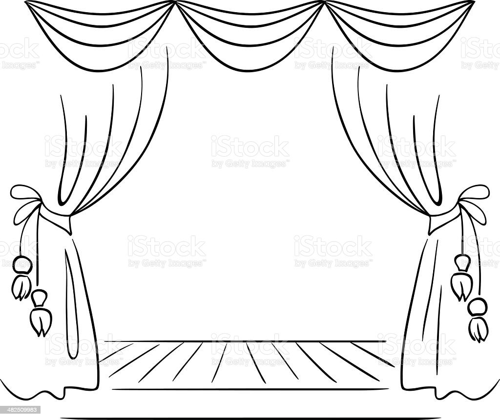 Theater Stage Vector Sketch stock vector art 482509983