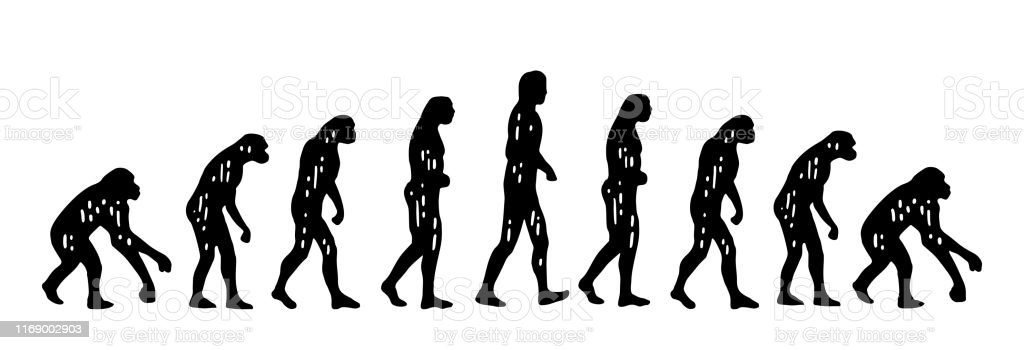Theory Evolution Of Man From Monkey To Man Vintage