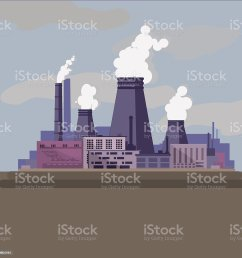 thermal power station industrial factory royalty free thermal power station industrial factory stock vector [ 1024 x 1023 Pixel ]