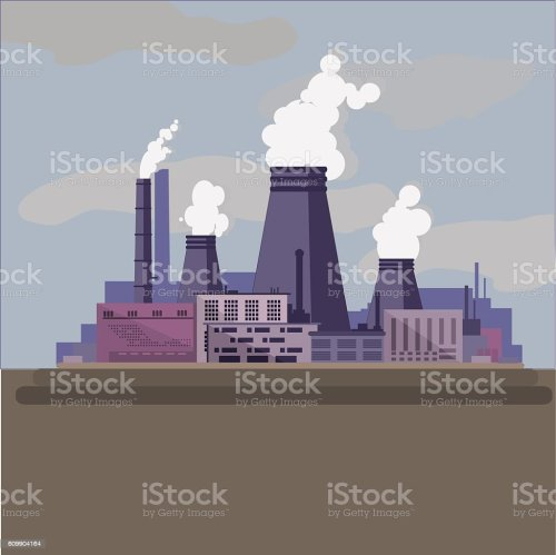 small resolution of thermal power station industrial factory royalty free thermal power station industrial factory stock vector