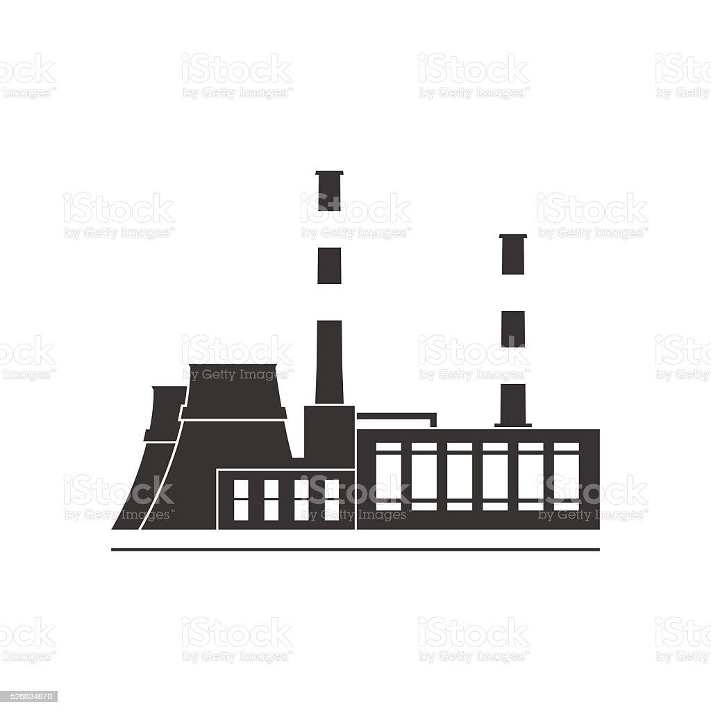 Usina Termelétrica Vetor e Ilustração Royalty-Free
