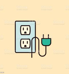 thin line home improvement diy icon electrical outlet plug royalty free thin line home [ 1024 x 1024 Pixel ]