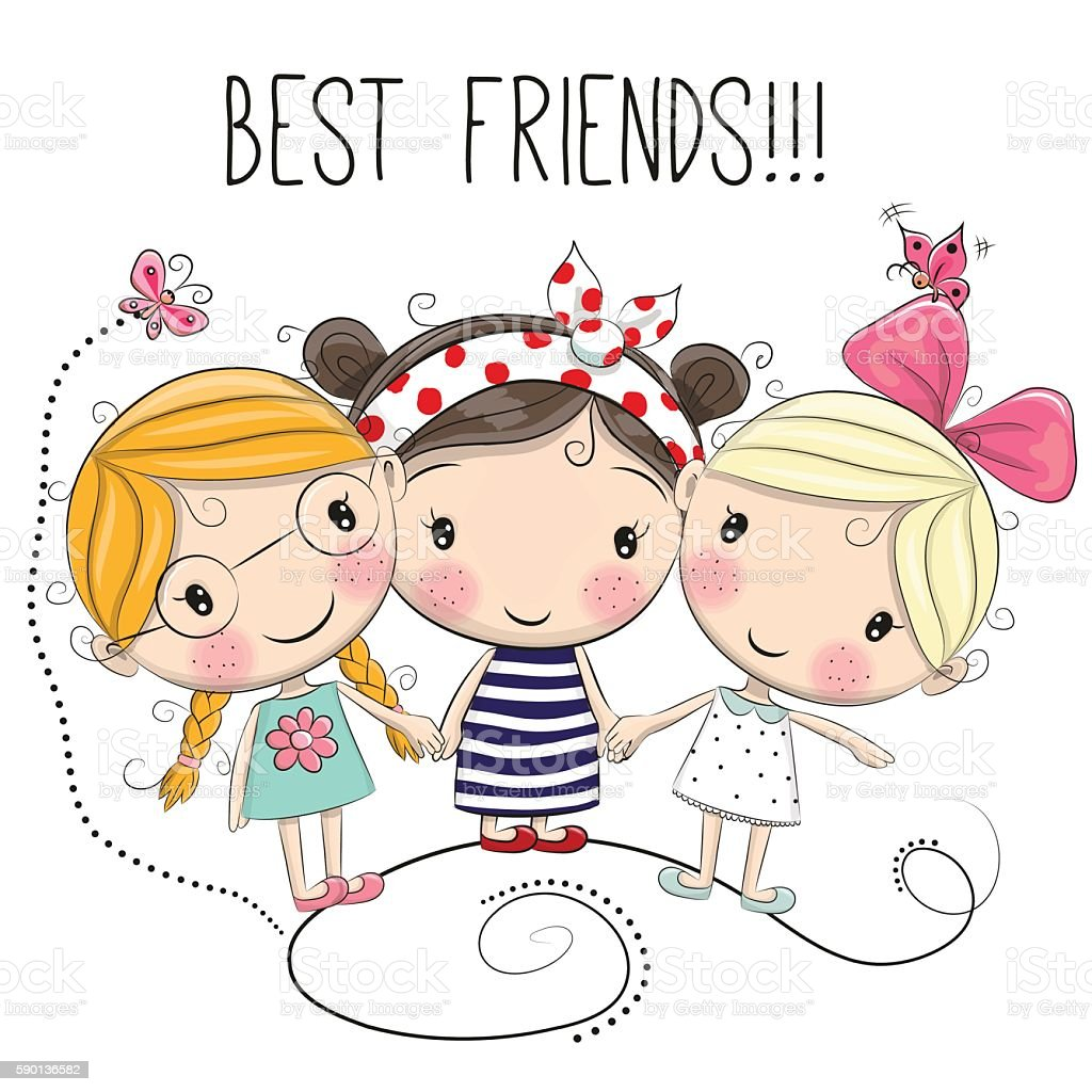 Royalty Free Three Friends Clip Art Vector Images