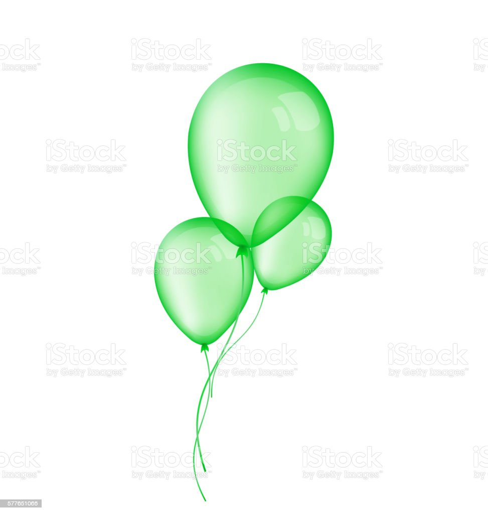 royalty free green balloon clip
