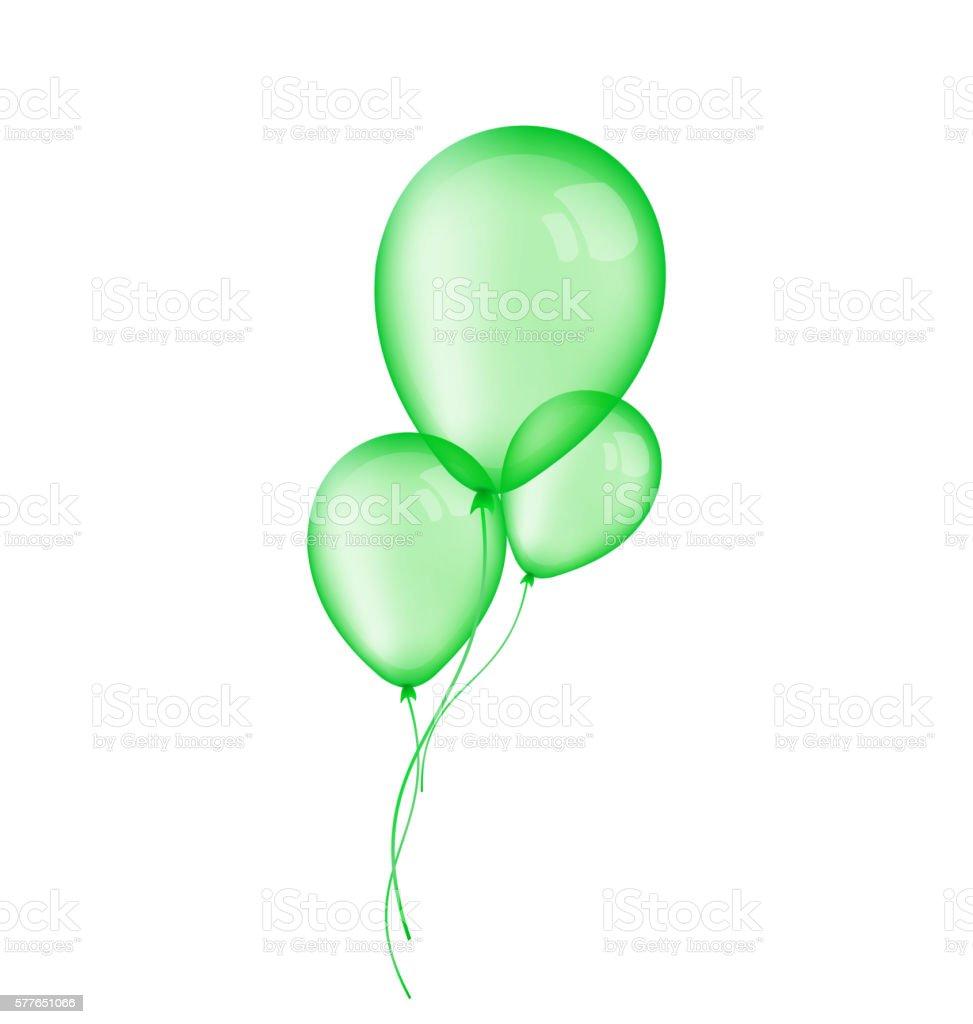 green balloon illustrations