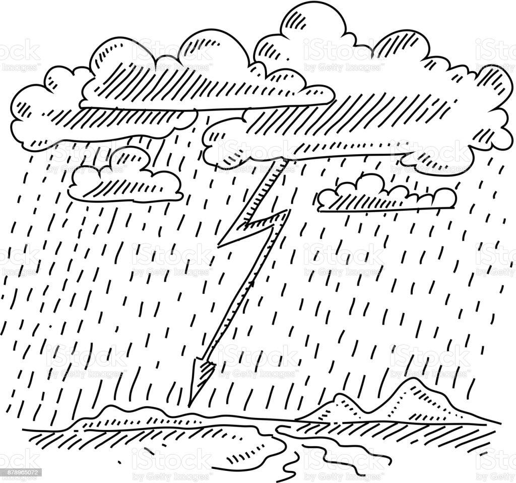 Orage Et Pluie Dessin