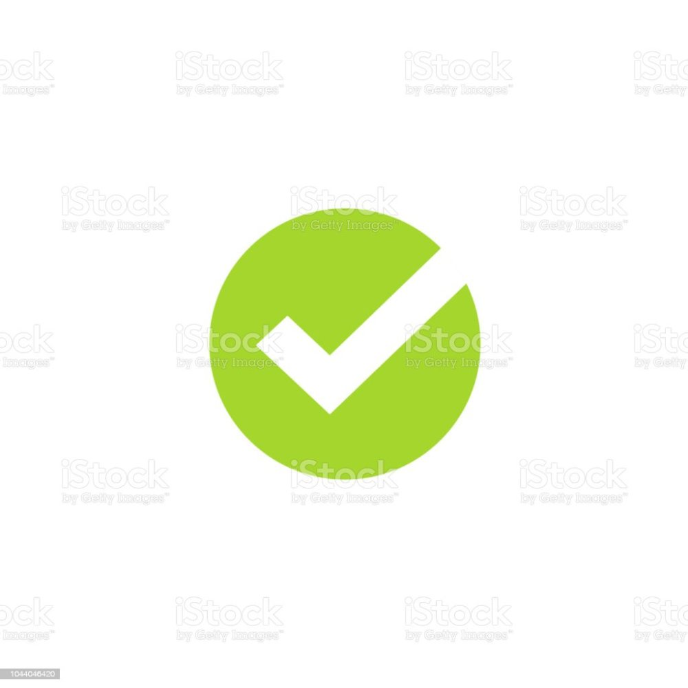 medium resolution of tick icon vector symbol green checkmark isolated on white background checked icon or correct
