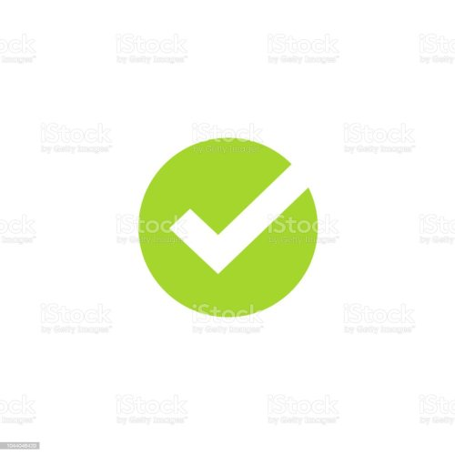 small resolution of tick icon vector symbol green checkmark isolated on white background checked icon or correct