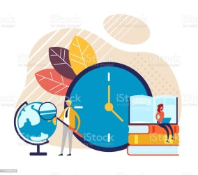 Time To Study Concept Vector Graphic Design Flat Cartoon Illustration Stock Illustration Download Image Now iStock