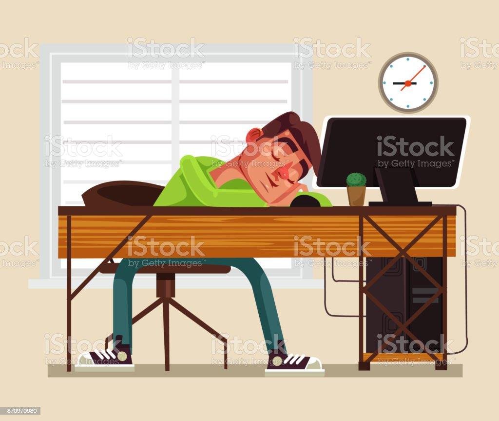 royalty free asleep desk clip