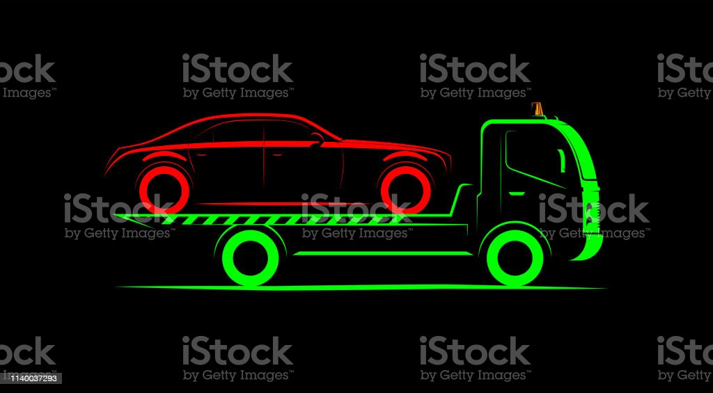tow truck logo drawings