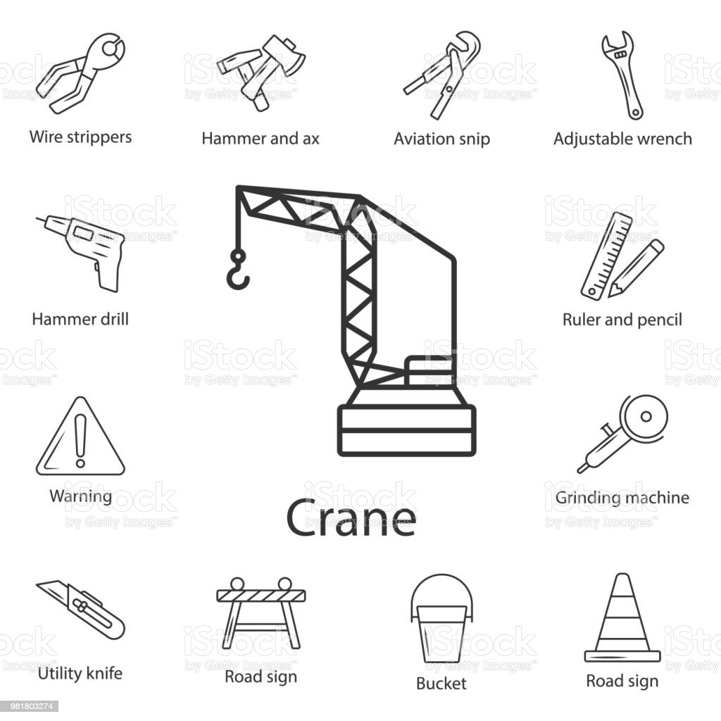 hight resolution of tower crane icon simple element illustration tower crane symbol design from construction collection set can be used for web and mobile illustration