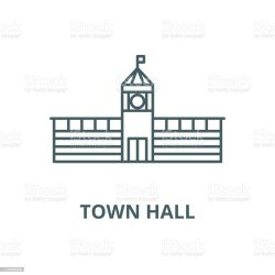 vector council meeting town clip hall sign symbol outline icon illustrations similar graphics