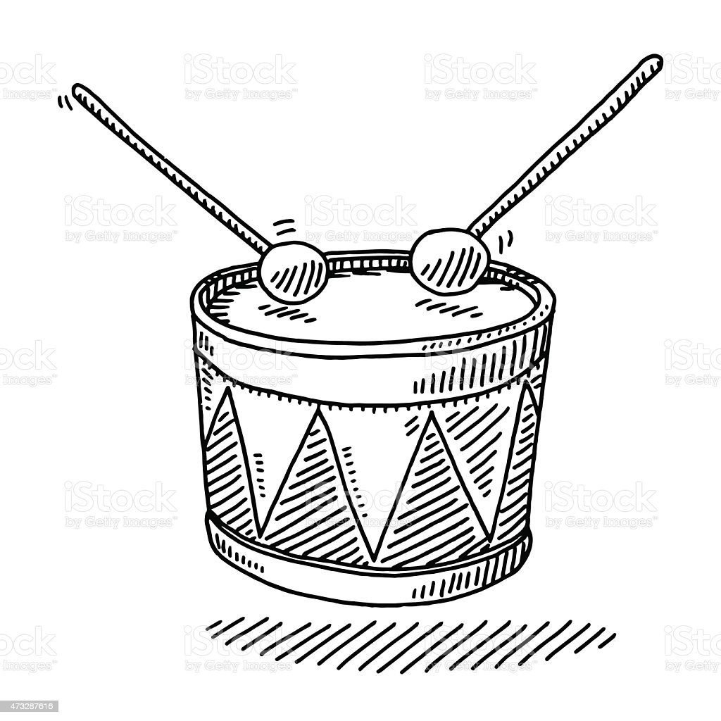 Toy Drum Musical Instrument Drawing Stock Vector Art