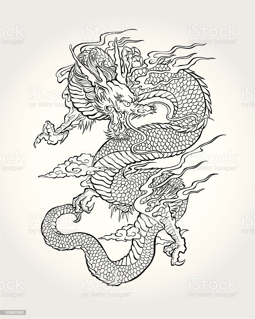 Traditional Dragon : traditional, dragon, Traditional, Asian, Dragon, Stock, Illustration, Download, Image, IStock