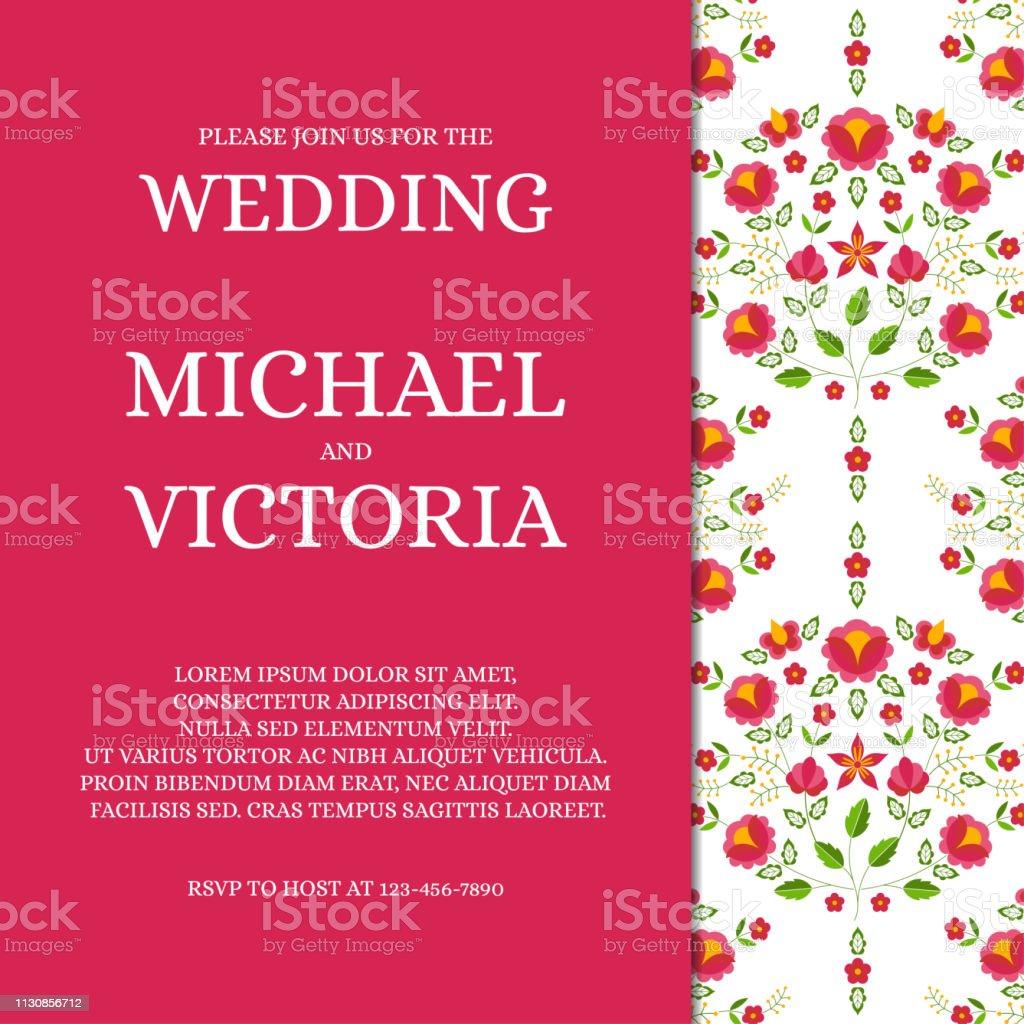 https www istockphoto com fr vectoriel mariage traditionnel invite carte mod c3 a8le vecteur printemps rose save the date gm1130856712 299221875