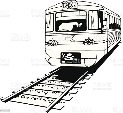 small resolution of train on tracks vector cartoon clipart royalty free train on tracks vector cartoon clipart stock