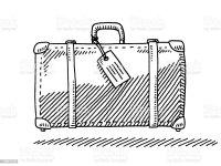 Viaggio Valigia Targhetta Per Bagaglio Vista Laterale Di ...