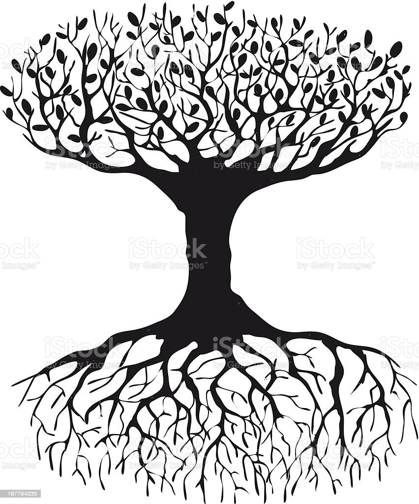 Tree Of Life Silhouette Stock Vector Art & More Images of