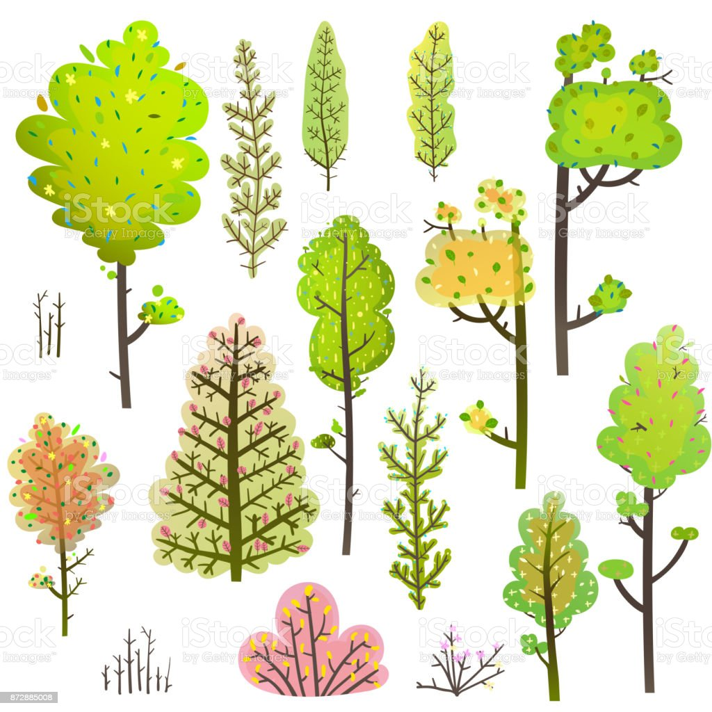 hight resolution of trees bush green forest clipart collection royalty free trees bush green forest clipart collection stock