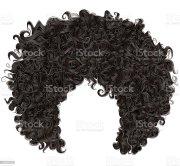 trendy curly african black hair