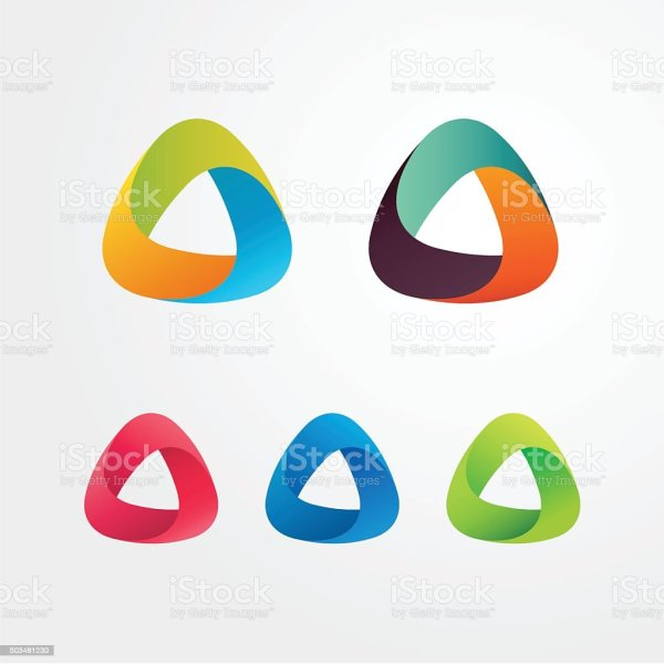 Triangle Abstract Logo Set Elements Business And Icons