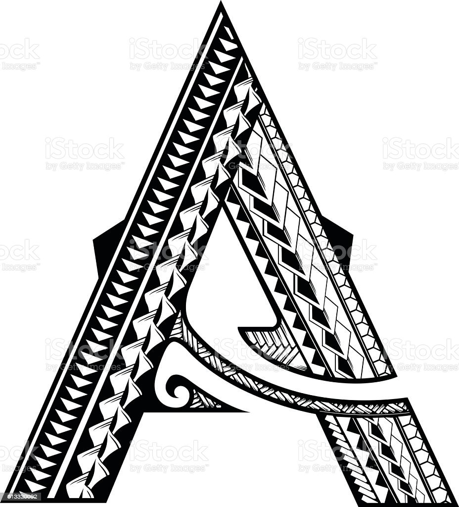 Tribal A Stock Vector Art & More Images of Alphabet