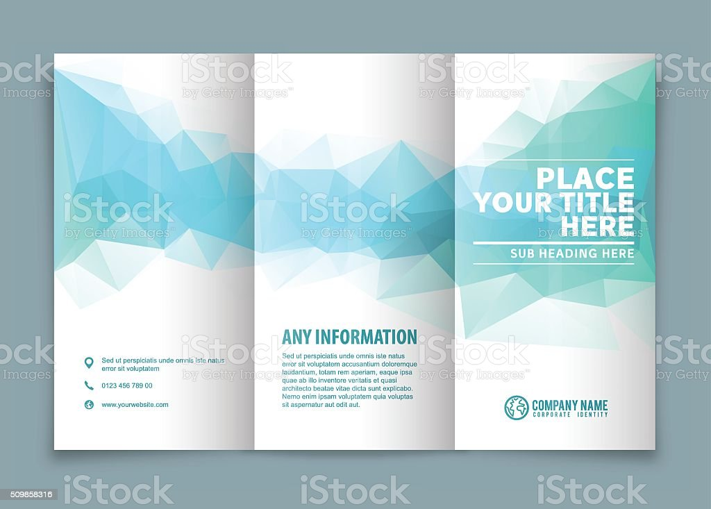 Trifold Brochure Design Stock Vector Art & More Images Of