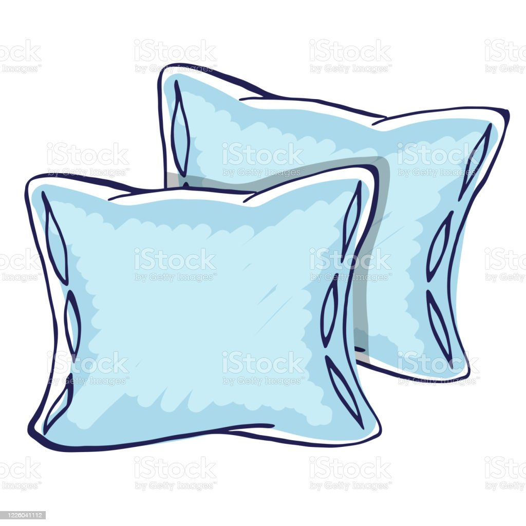 two cartoon vector pillows stock illustration download image now istock
