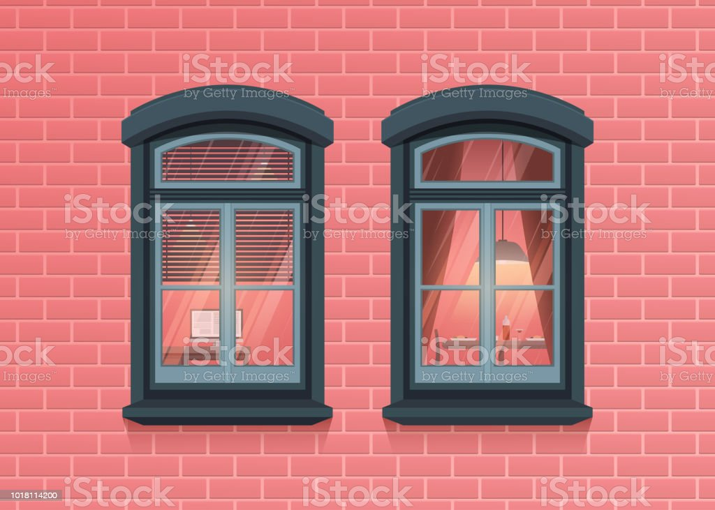 two windows frames view