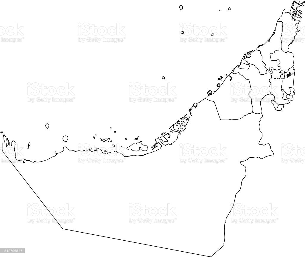United Arab Emirates Map White Stock Vector Art & More