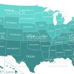 United States Map Vector Outline With States Names Labeled In Blue Color Gradient Background A New Creative Illustration Map Of Usa With Capital Location Washington Dc Stock Illustration Download Image Now