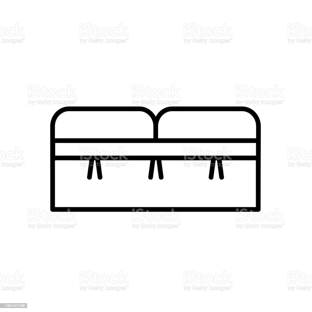 upholstered storage leather bench seat entryway patio furniture vector line icon stock illustration download image now istock