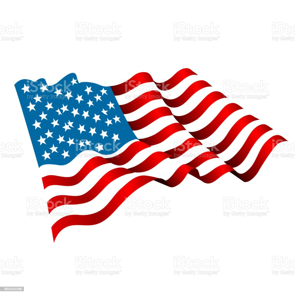 best american flag illustrations