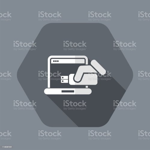 small resolution of usb computer icon royalty free usb computer icon stock vector art amp more images