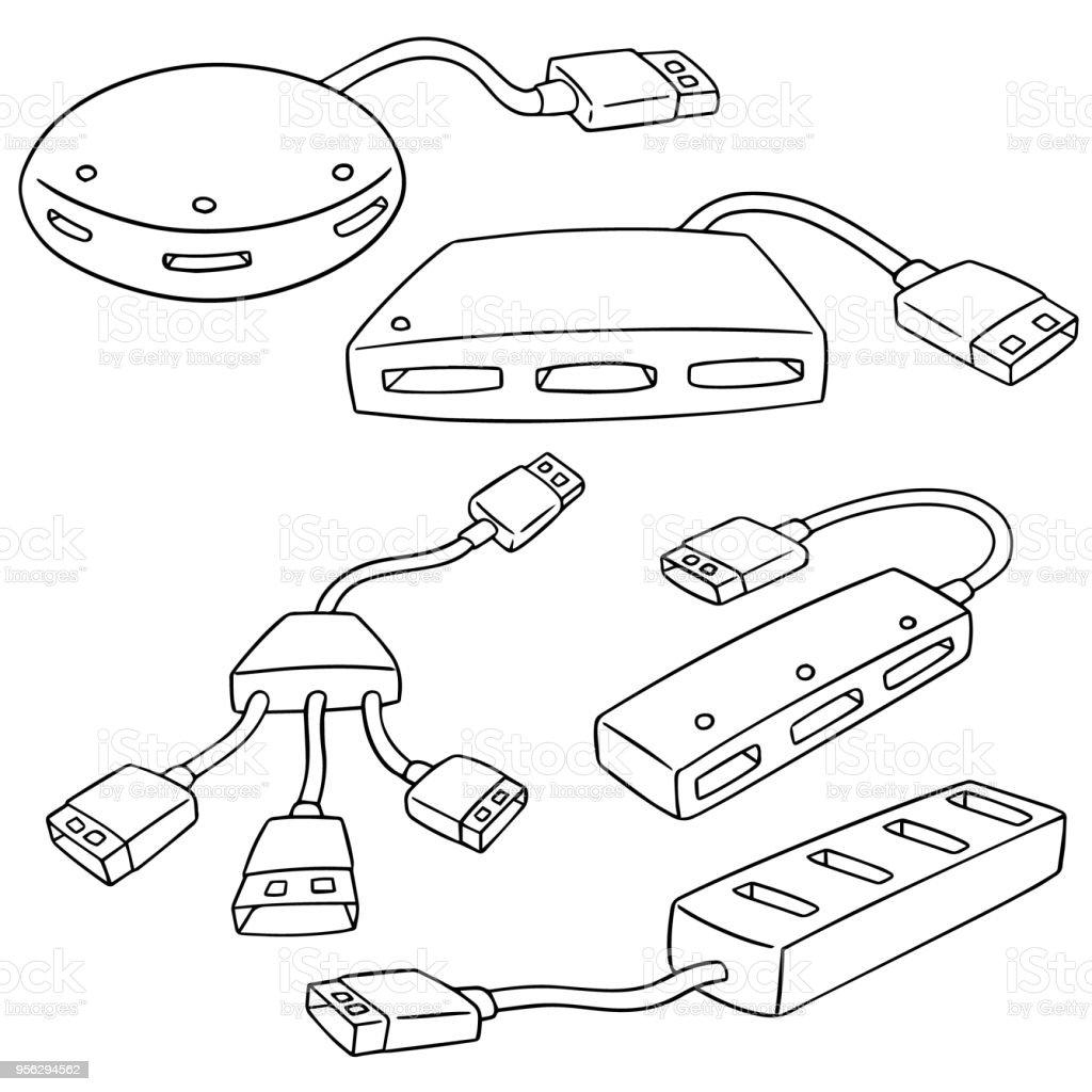 hight resolution of usb hub illustration