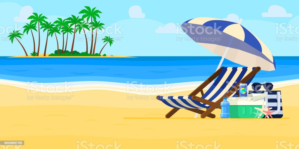 air travel beach chairs unfinished wooden uk vacation and concept umbrella chair stock vector royalty free