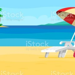 Air Travel Beach Chairs Short Dining Room Chair Covers With Arms Vacation And Concept Umbrella Stock Vector Royalty Free